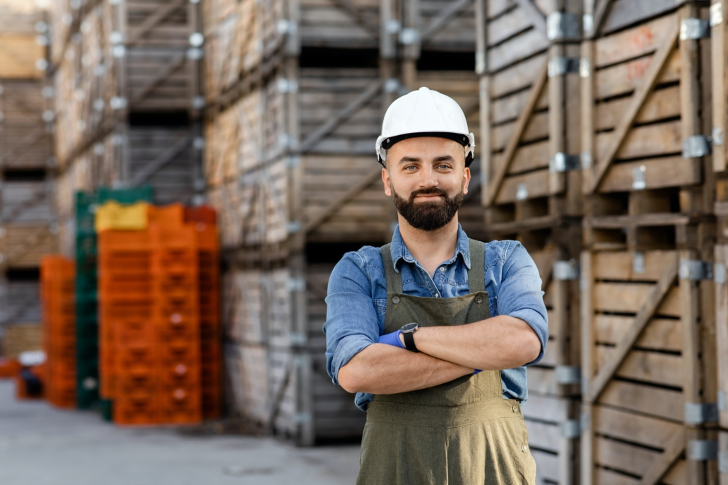 Inspecting products in warehouse, management, distribution and logistics